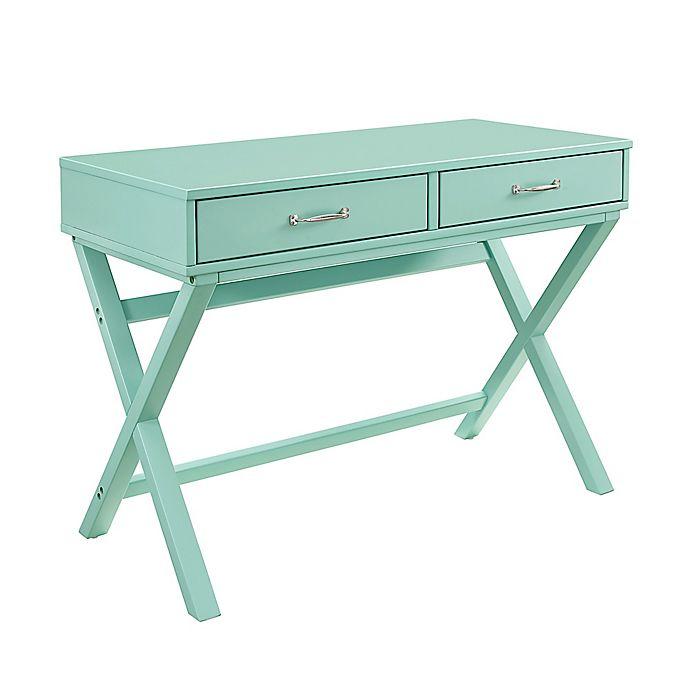 Alternate image 1 for Nelle 2-Drawer Desk in Turquoise
