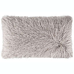 Safavieh Shag Modish Oblong Throw Pillow in Metallic Silver