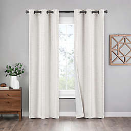 Eclipse Griffin 2-Pack 95-Inch Grommet 100% Blackout Window Curtain Panels in Ivory