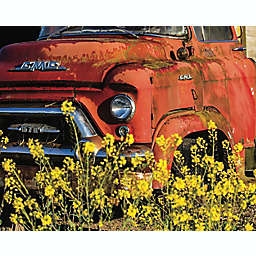 Hart Puzzles Red 50's GMC Truck in a Field of Daisies 1000-Piece Jigsaw Puzzle