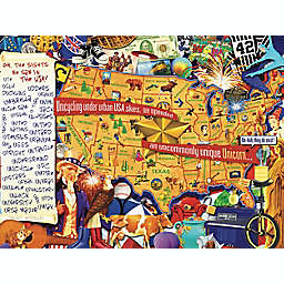 Hart Puzzles Seek & Find 500-Piece Oh, The Sights We Saw in the USA Jigsaw Puzzle