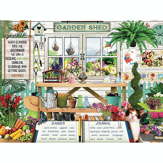Alternate image 1 for Hart Puzzles Seek & Find 500-Piece Garden Shed Jigsaw Puzzle