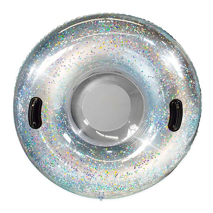 Alternate image 1 for SnowCandy Glitter Snow Tube in Silver Glitter
