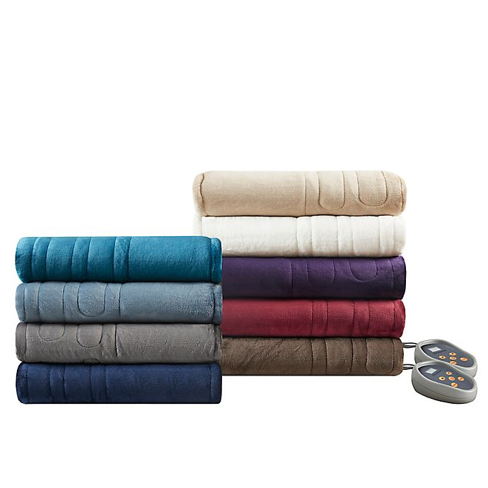 Alternate image 1 for Beautyrest Microlight-to-Berber Reversible Heated Blanket