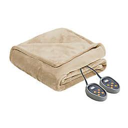 Beautyrest Microlight-to-Berber Reversible Twin Heated Blanket in Vanilla