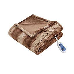 Beautyrest® Zuri Heated 70-Inch x 50-Inch Throw Blanket in Tan