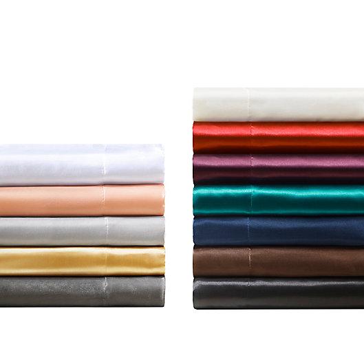Alternate image 1 for Madison Park® Essentials 6-Piece Wrinkle Free Satin Solid Sheet Set