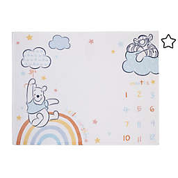 Disney® Winnie The Pooh Milestone Baby Blanket in Light Blue