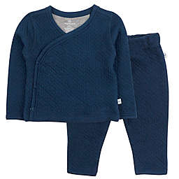 Honest Baby® 2-Piece Quilted Organic Cotton Kimono Top and Pant Set in Blue
