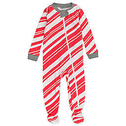 The Honest Company® Candy Kane Stripe Organic Cotton Footed Pajamas