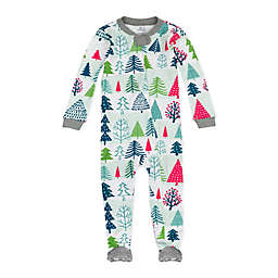 Honest Baby® Snowy Prints Organic Cotton Footie Pajamas in Green/Red