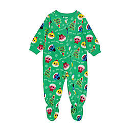 Pink Frog Baby Shark Party Footed Pajama