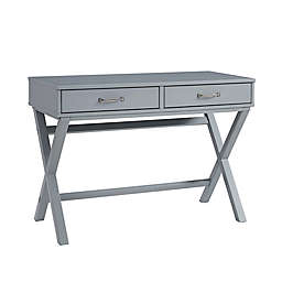 Nelle 2-Drawer Desk in Grey