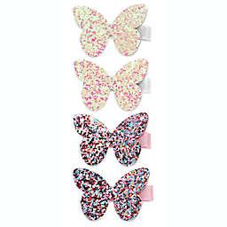 Khristie® 4-Pack Glitter Butterfly Hair Clips