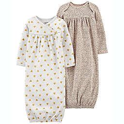 carter's® 2-Pack Animal Glitter Sleeper Gowns