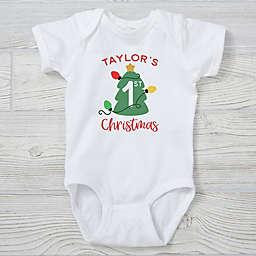 6-18M First Christmas Short Sleeve Baby Bodysuit