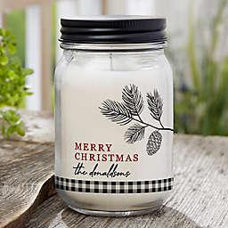 Festive Foliage Farmhouse Candle Jar