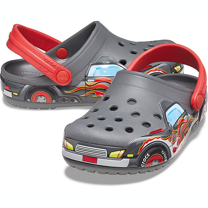 Alternate image 1 for Crocs™ Kids' Crocs Littles™ Fun Lab Truck Clog in Slate Grey