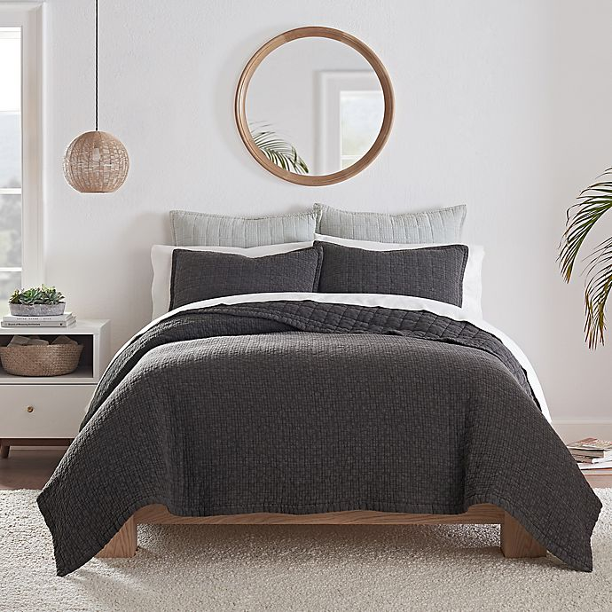 Alternate image 1 for UGG® Campo 2-Piece Twin Quilt Set in Charcoal
