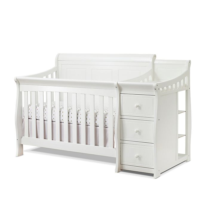 Alternate image 1 for Sorelle Princeton Elite Panel Crib and Changer in White