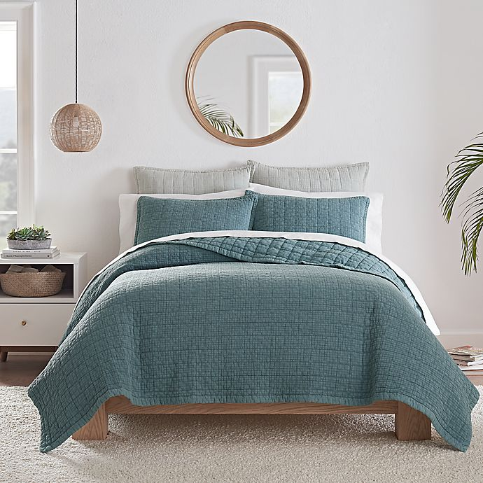 Alternate image 1 for UGG® Campo 2-Piece Twin Quilt Set in Jade