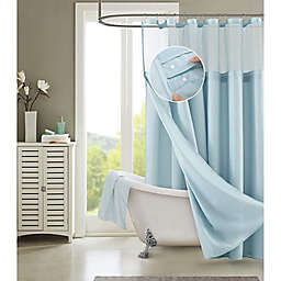 Dainty Home 70-Inch x 72-Inch Waffle Shower Curtain and Liner Set