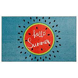 "Mohawk Home® 2'6"" x 4'2"" Prismatic Hello Summer Accent Rug in Aqua"