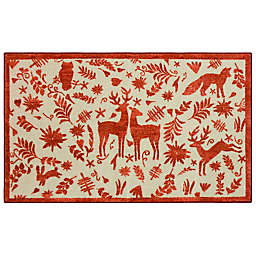 """Mohawk Home® 2' x 3'4"""" Prismatic Holiday Forest Scatter in Red"""