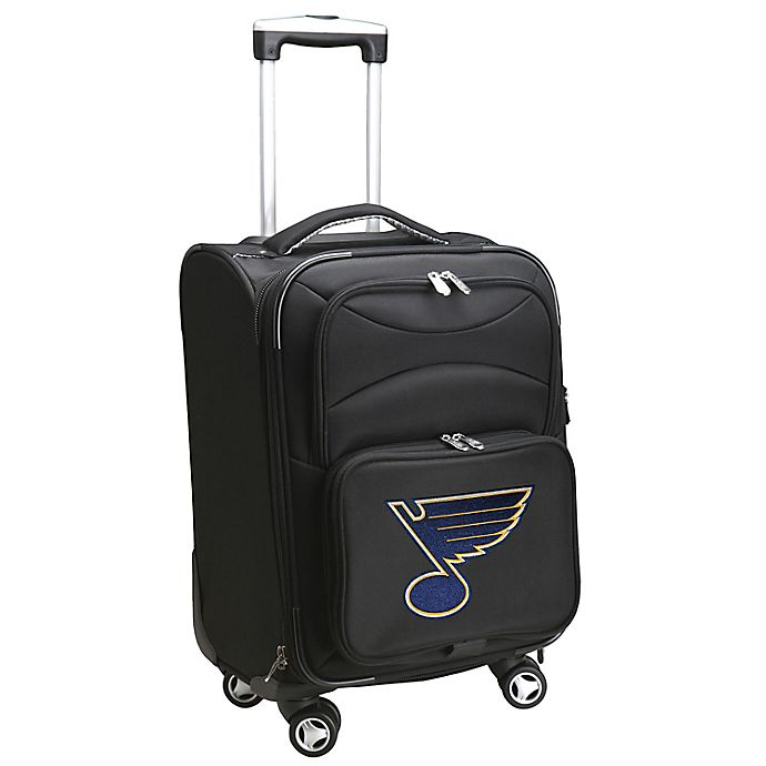 Alternate image 1 for NHL St. Louis Blues 20-Inch Carry On Spinner Luggage