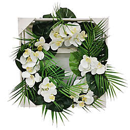 W Home 23-Inch Tropical Orchid Wreath