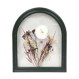 Bee & Willow™ Pressed Flowers in Dark Green Arched Frame