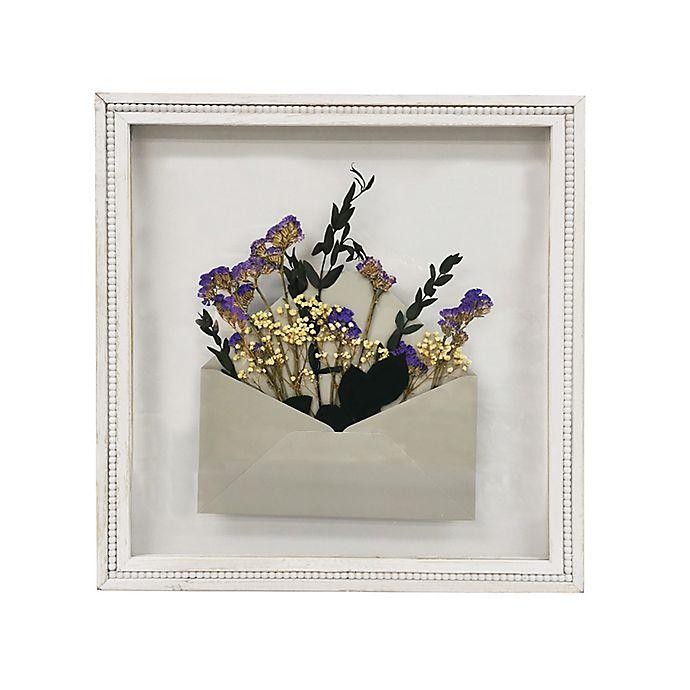 Alternate image 1 for Bee & Willow® Pressed Flowers in Envelope Framed Wall Art