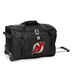 NHL New Jersey Devils 22-Inch Wheeled Carry-On Duffle Bag