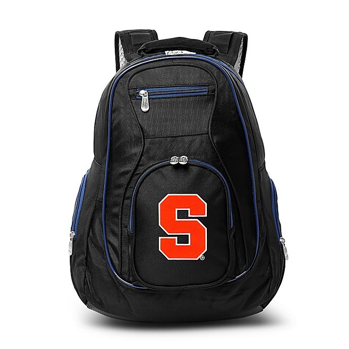Alternate image 1 for Syracuse University Laptop Backpack in Black