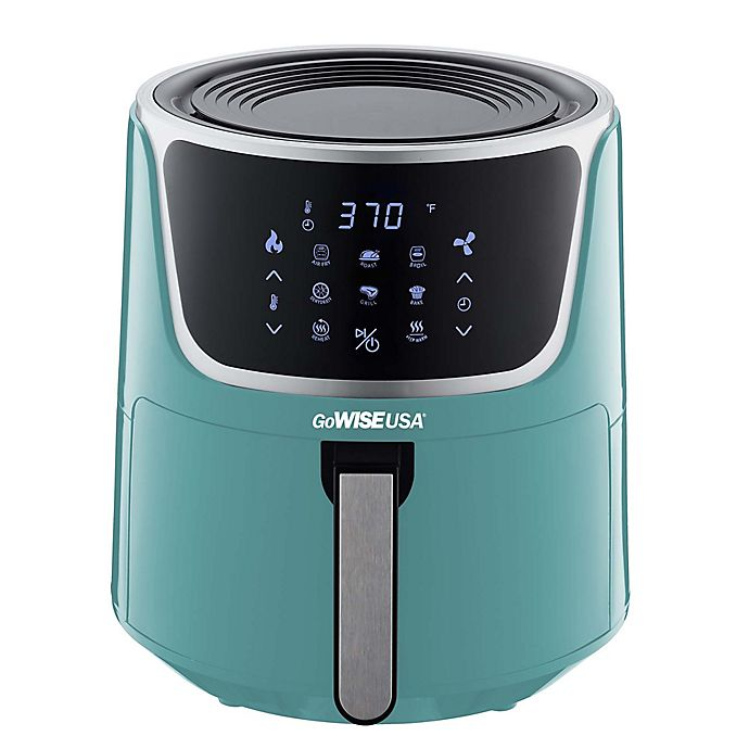 Alternate image 1 for GoWISE USA 7 qt. Air Fryer with Dehydrator in Mint/Silver