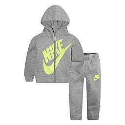 Nike® Futura Size 12M 2-Piece Sueded Fleece Hoodie and Pant Set in Grey Heather