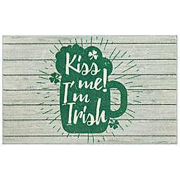 "Mohawk Home® 2'6"" x 4'2"" Prismatic Kiss Me I'm Irish Scatter in Green"