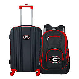 University of Georgia Backpack and 21-Inch Hardside Spinner Carry On Luggage Set