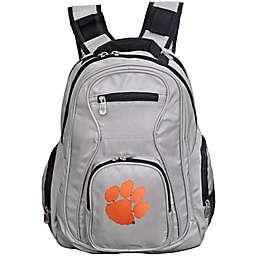 Clemson University Laptop Backpack in Grey