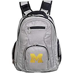 University of Michigan Laptop Backpack in Grey