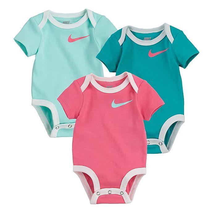Alternate image 1 for Nike 3-Pack Swoosh Logo Bodysuits
