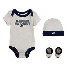 Nike® Size 0-6M 4-Piece Debut Bodysuit Set in Ivory