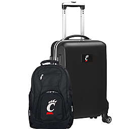 University of Cincinnati 2-Piece Carry On and Backpack Luggage Set in Black
