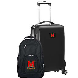 University of Maryland 2-Piece Carry On and Backpack Luggage Set in Black