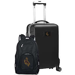 University of Wyoming 2-Piece Carry On and Backpack Luggage Set in Black
