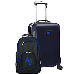 United States Air Force Academy 2-Piece Carry On and Backpack Luggage Set in Navy