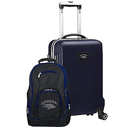 University of Nevada, Reno 2-Piece Carry On and Backpack Luggage Set in Navy
