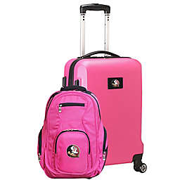 Florida State University 2-Piece Carry On and Backpack Luggage Set in Pink