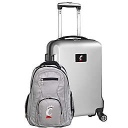 University of Cincinnati 2-Piece Carry On and Backpack Luggage Set in Silver