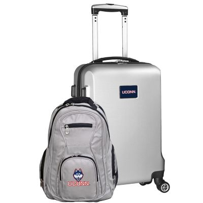 University Of Connecticut 2 Piece Carry On And Backpack Luggage Set In Silver From Ncaa Accuweather Shop